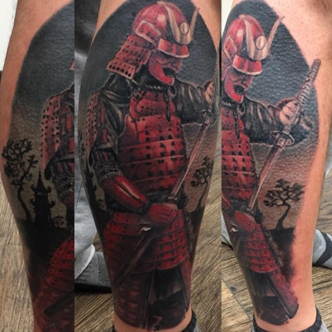 Samurai Tattoo By Steve Hayes Color Black Gold Tattoo Co