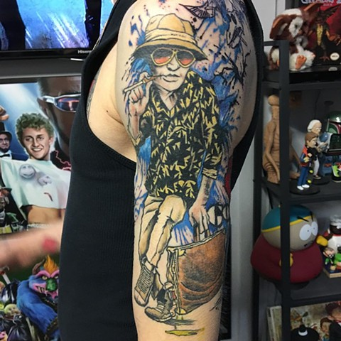 Fear And Loathing in Las Vegas Tattoo By Chris Labrenz Color Black Gold Tattoo Co