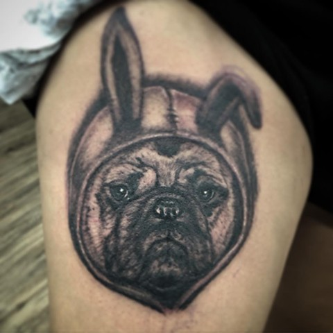 George the Pug By Steve Hayes Black And Grey Black Gold Tattoo Co