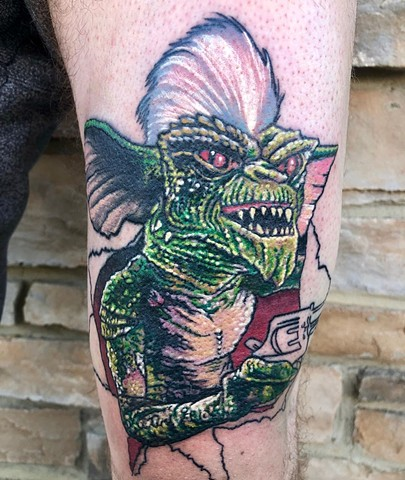 Gremlin Tattoo By Chris Labrenz Color Black Gold Tattoo Co