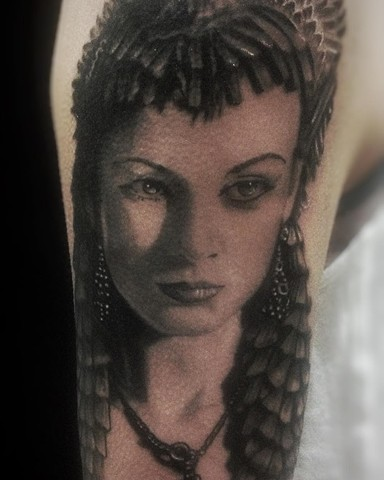 Lady Portrait Tattoo By Alan Coates Black And Grey Black Gold Tattoo Co