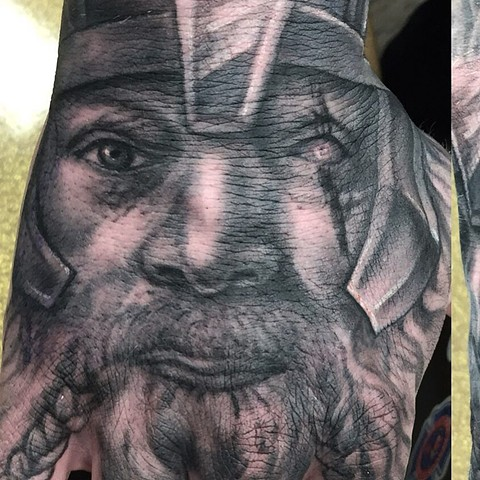 Viking Tattoo By Steve Hayes Black And Grey Black Gold Tattoo Co