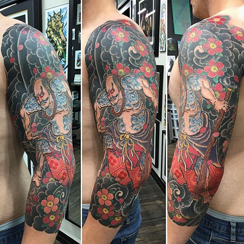 Samurai Tattoo By Guka Black And Grey With Color Black Gold Tattoo Co