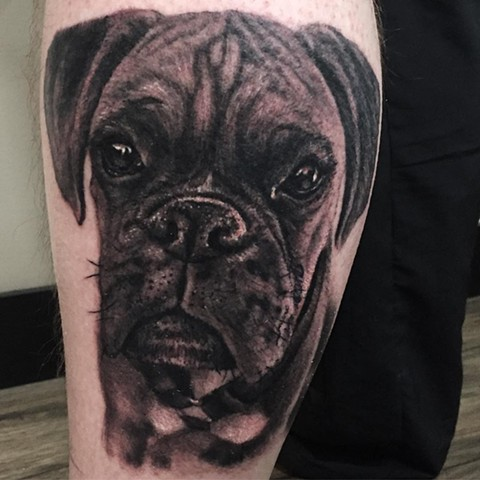 Boxer Portrait Tattoo By Steve Hayes Black And Grey Black Gold Tattoo Co