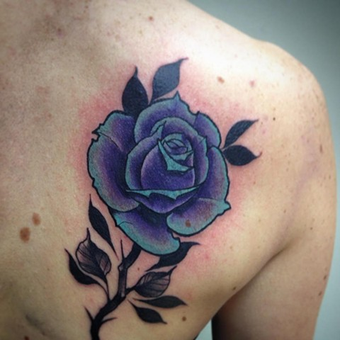Rose Tattoo By Chad Clothier Color Black Gold Tattoo Co
