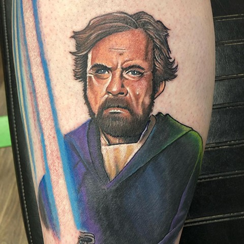 Star Wars Tattoo By Chris Labrenz Color Black Gold Tattoo Co