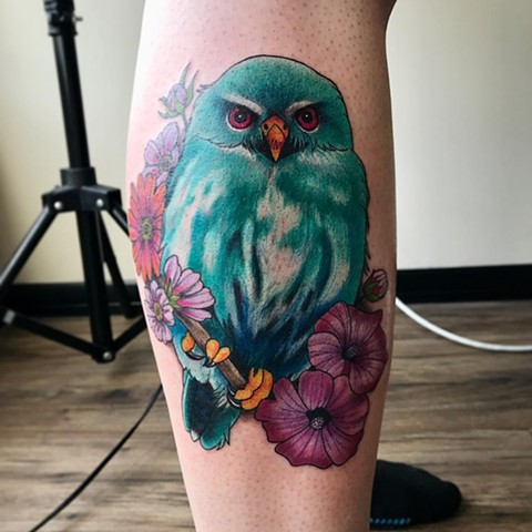 Bird Tattoo By Jess Color Black Gold Tattoo Co