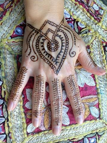 Henna Hand design