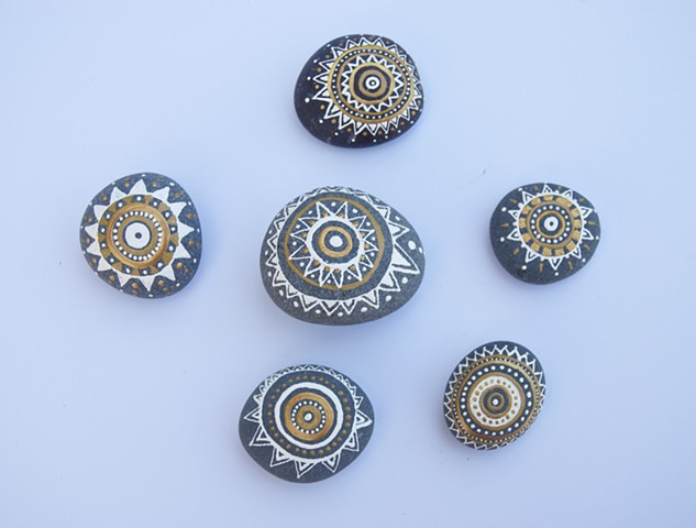 Hand painted decorative rocks