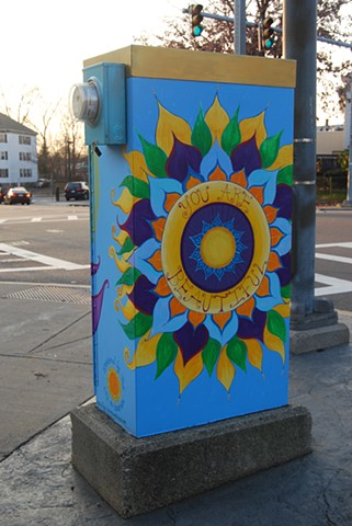 """Be the Love you Are""  Utility Box Project"
