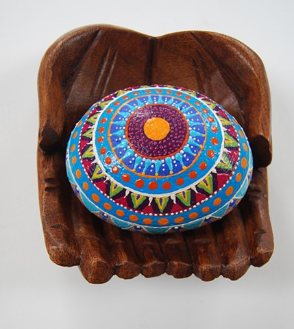 Hand- Painted decorative rock