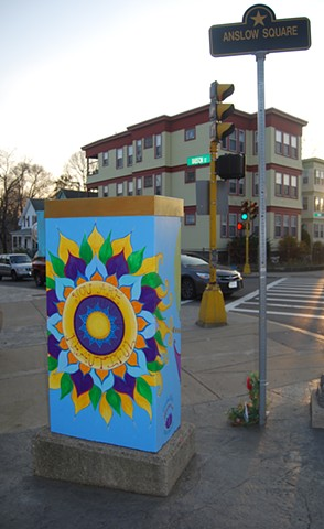 """""""Be the Love you Are"""" Utility Box Project"""