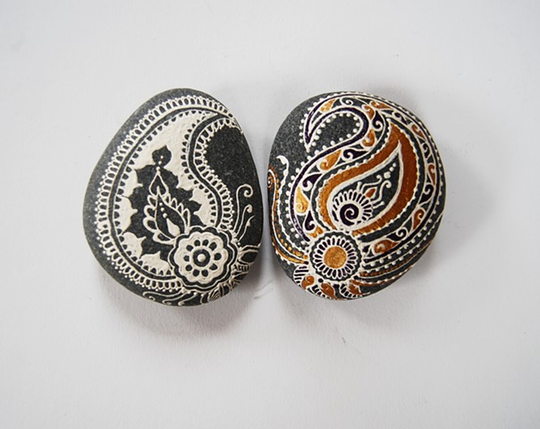 Hand- Painted decorative rocks