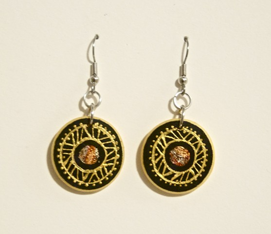 Hand painted earrings