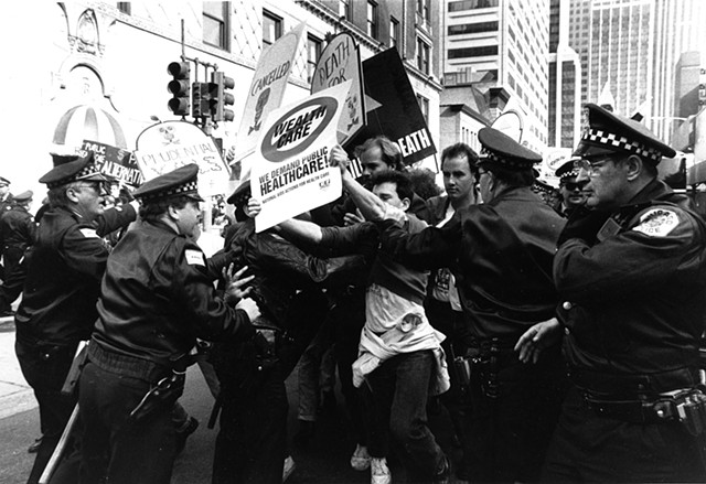 National AIDS Actions for Healthcare, Chicago, April 1990. Photograph Linda Miller