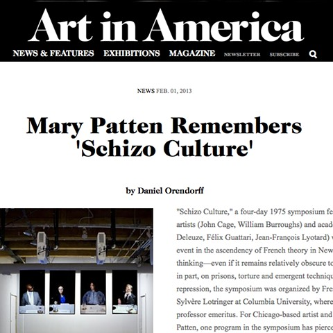 Mary Patten Remembers 'Schizo Culture'  by Daniel Orendorff