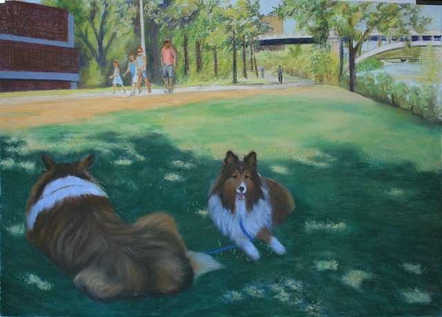Resting in the Shade (By the Stone Arch Bridge)  sold - Hennepin Healthcare Clinic