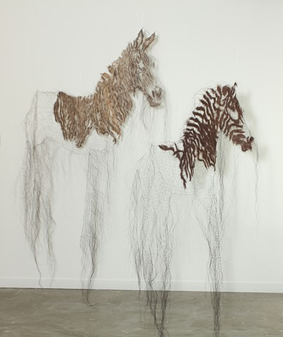 Quagga Foal and Stallion Installation