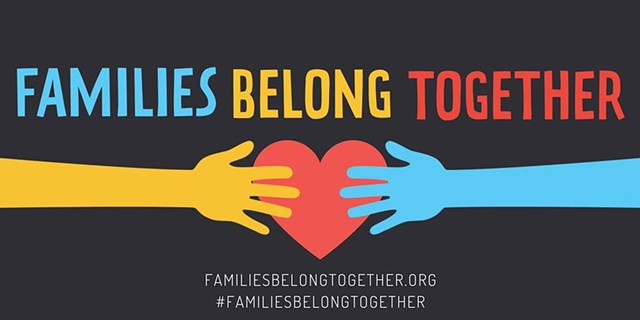 Community Poster Making for Families Belong Together