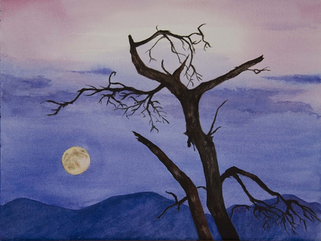 A Bare Tree in the Moonlight (Sold)