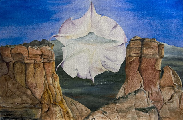 Ghost Ranch, Pedernal and Jimson Weed