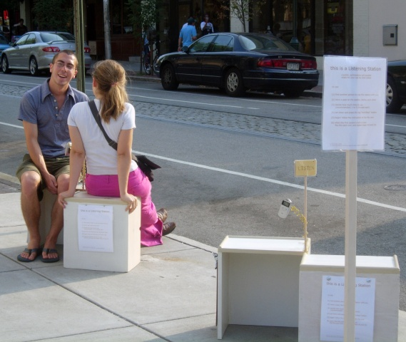The Listening Station at 40th and Walnut