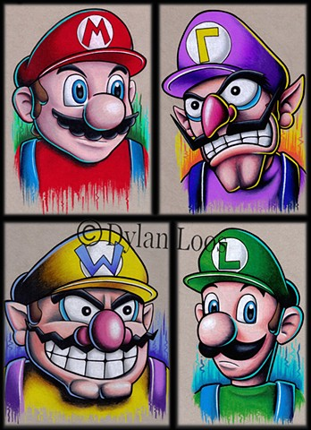 the blind tiger tattoo dylan loos art phoenix arizona mario bros luigi wario waluigi nintendo