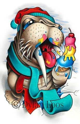 the blind tiger tattoo dylan loos art phoenix arizona walrus arctic ice cream