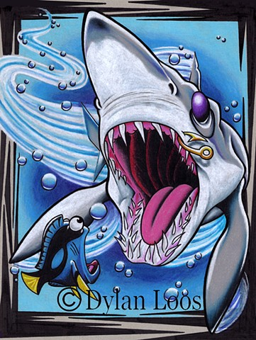 the blind tiger tattoo dylan loos art phoenix arizona mako shark ocean