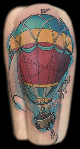 the blind tiger tattoo arizona phoenix dylan loos hot air balloon color