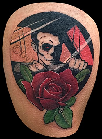 dylan loos art dloosart tattoo phoenix arizona az blink 182 color rose