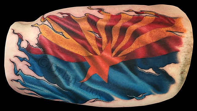 dylan loos art dloosart tattoo phoenix arizona az flag color