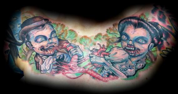 zombie tattoo eric james tattoos phoenix arizona blind tiger tattoo