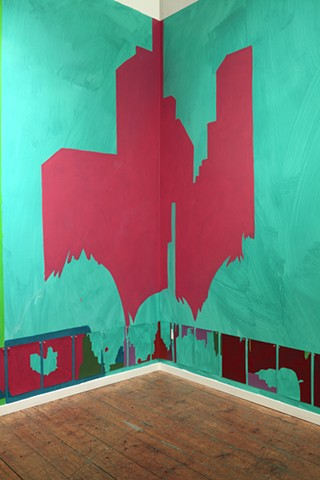 wall painting installation