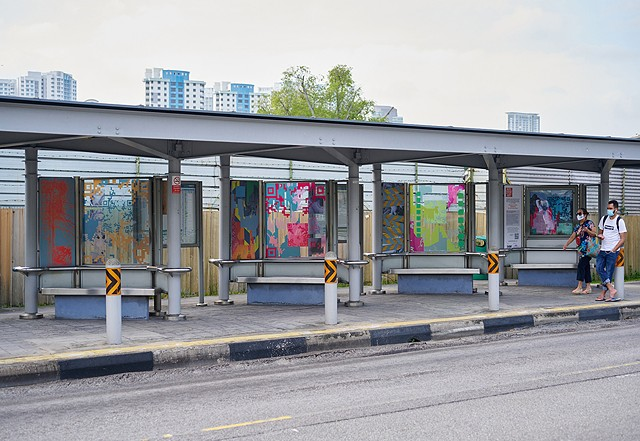 Merryn Trevethan artwork for busstopart Singapore