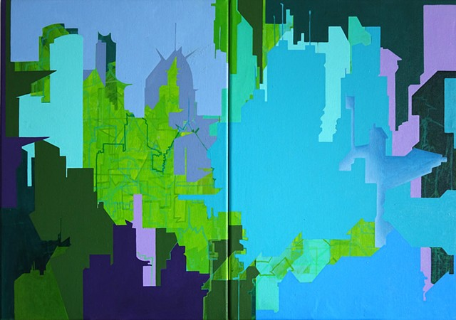 Merryn Trevethan Abstract Cityscape singapore