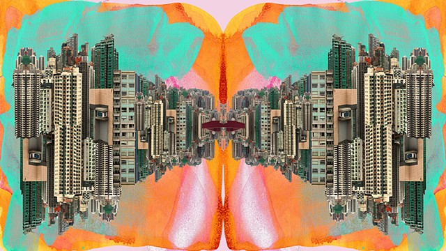 Digital Collage Cityscape by Merryn TRevethan