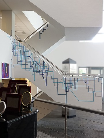 Tape Drawing, site specific art, by Merryn Trevethan