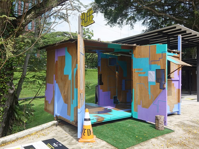 Outdoor Installation Project by Merryn Trevethan at Gillman Barracks Singapore