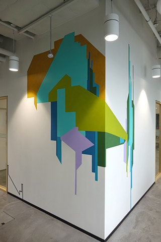 Facebook Artist in Residence Program commission wall painting by Merryn Trevethan