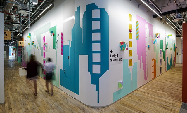 Mural artwork by Merryn Trevethan Facebook offices Singapore