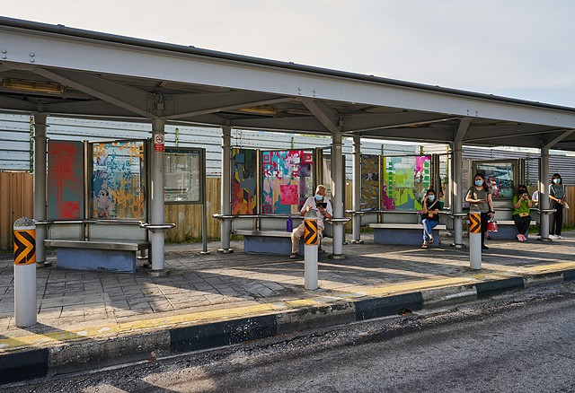 Merryn Trevethan public artwork for busstopart Singapore