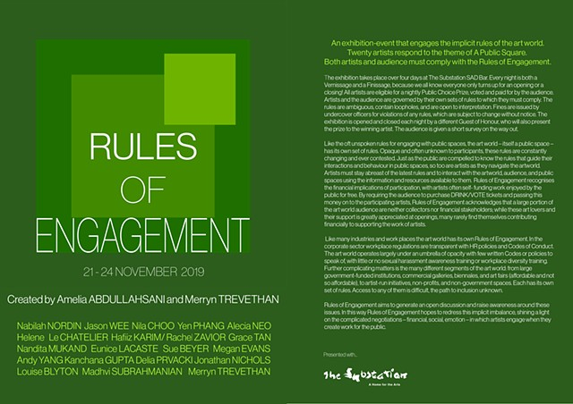 Rules of Engagement  SAD BAR The Substation, Singapore  |https://merryntrevethan.com/pdfs.html| CATALOGUE|