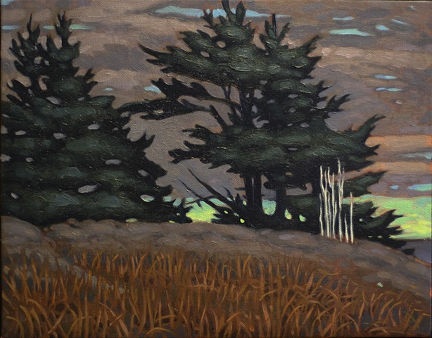 "Blueberry Hill: Early Winter Oil on canvas 12""x9"""