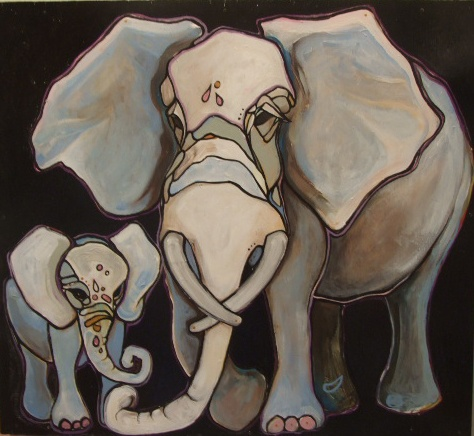 Two Sweet Elephants