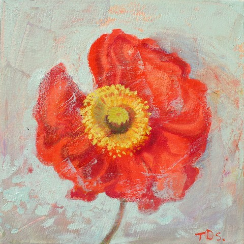 Poppy Portrait ii, sold