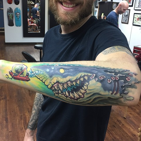 Sean's shark  Done on my coworker and pal - thanks for letting me do my thing!