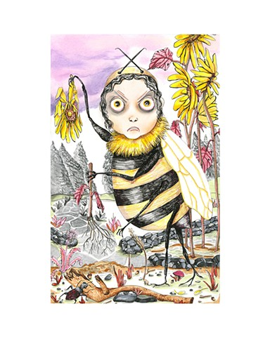 Bee Headed by Heather Pereira