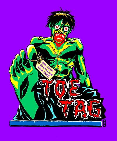 TOE TAG (t-shirt design)