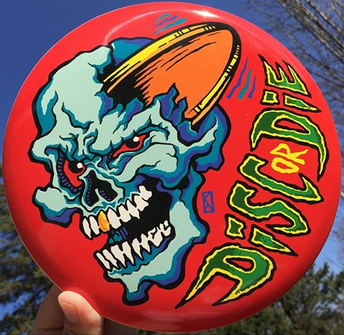 Disc or Die Disc Golf Logo